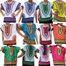 Boy Girl Kids Unisex Bright African Colour Child Dashiki Loose Shirt Tee Tops KK