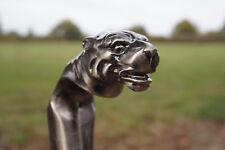 H5880  CANNE  TETE DE  TIGRE FELIN  METAL  GOTHIQUE HEROIC  FANTASY LEOPARD LION