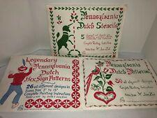 Vintage 1964 Pennsylvania Dutch Patterns Stencils 81 Hex Design 3 Sets Jane Zook