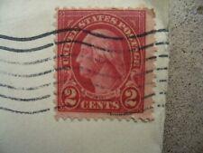 2 Cent Red Washington Stamp on Used 1929 Envelope