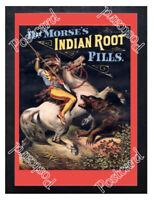 Historic Indian Root Pills Advertising Postcard