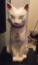 Large Ceramic Cat Ornament - Preowned