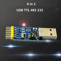 USB to TTL RS232 USB TTL to RS485 CP2102 Mutual Convert 6 in 1 Convert Module