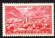 Andorra, French Administration Scott #122 VF Unused 1951 18F Rose Old Andorra