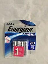 Energizer AAA 4 PACK L92SBP Ultimate Lithium Batteries, Retail Package EXP 2038