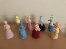 Vintage Lot of 8 Avon Fashion Lady Decanters Women's Cologne Most Are Full.