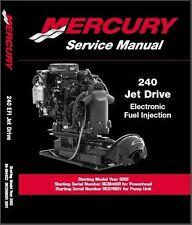 Mercury 240 Jet Drive EFI Engine Service Repair Manual CD