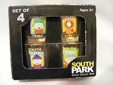 RARE SOUTH PARK Stan Kyle Kenny Cartman Shot Glass Set of 4 COMPLETE IN BOX