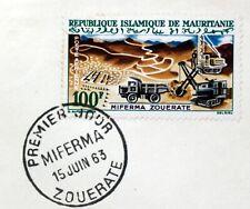 Mauritania Mines Of Railway Zouerate FDC Envelope Premier Day X215