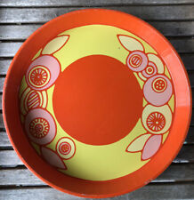 Vintage 1960s Ducor Reginald Corfiled Ltd Retro Orange / Yellow Tin Tray