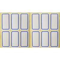 120 Etiketten 50 x 25mm weiß selbstklebend -Tiefkühl Gefrier Klebeetiketten Büro