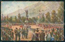 Militari Propaganda WWI Alpini Bersaglieri Trento PIEGHINE cartolina XF0585