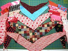 30 Valentines Dog Grooming BANDANAS 10 S 15 M  5 L  Pet Scarf HOLIDAY Tie On