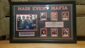 TNA WRESTLING TRISTAR SIGNED MAIN EVENT MAFIA PLAQUE. RARE!!! IMPACT WWE AEW