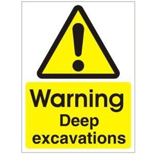 Warning Deep Excavations 200mm x 300mm Rigid Plastic