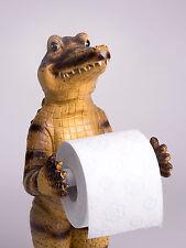 Witziges Krokodil Alligator Toilettenpapierhalter Deko Bad WC Spender Geschenk