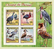 More details for burundi 2014 mnh birds of burundi wading birds 4v deluxe m/s cranes ibis