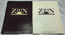 1980 Zion LDS Mornon Church Musical Play Production Piano Sheet Music 2 Book Lot