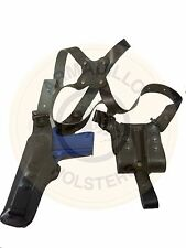 Armadillo Black Leather Verticall Shoulder Holster for 1911 P4V