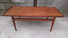Retro Vintage Scandinavian Style Teak Coffee Table