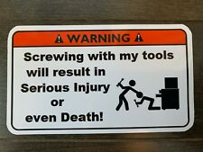 flying tools Tool Box Warning Sticker Must Have! snapon mac dewalt