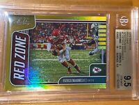 2019 Patrick Mahomes PANINI ABSOLUTE GOLD PRIZM RED REFRACTOR #7 /10 BGS 9.5 PSA