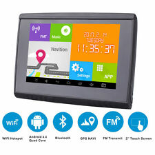 "5"" Waterproof GPS Android WiFi Touch Moto Car SAT NAV Navigation 8GB 512M w. Map"