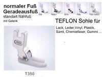 normaler Nähfuß, TEFLON, Geradeausfuß, mit Gelenk  T350