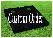 CUSTOM ORDER Cornhole Boards Personalized BEANBAG TOSS GAME w Bags