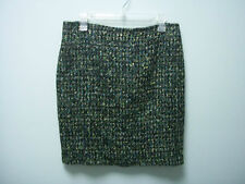 LIZ CLAIBORNE Womens Winter Paradise Black Green Teal Yellow Skirt  10P 10 P NEW