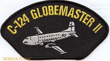 C124 GLOBEMASTER 2 OLD SHAKEY US AIR FORCE HAT PATCH MATS ATC MAC AFB PIN CARGO
