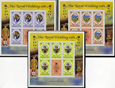 GRENADA GRENADINES 1981 ROYAL WEDDING SET OF 3 SOUVENIR SHEETS MNH