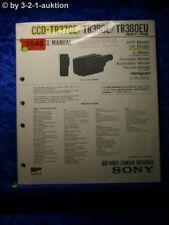 Sony Service Manual CCD tr370e/tr380e/tr380eu (#3546)