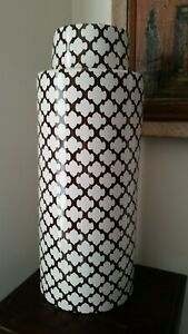 "Pottery Barn LARGE Ginger Jar Decorative Vase 18"" tall"