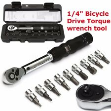 1/4'' 2~14NM Bicycle Drive Bike Car Drive Torque Wrench Kit Key Tool Socket Set