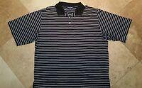 Ralph Lauren Polo Golf Short Sleeve Stripe Polo Shirt 100% Pima Cotton Blue 2XL