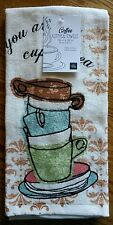 Home Wear Terrycloth Kitchen Dish Towel ~ You Are My Cup of Tea Coffee Cups