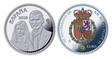 ESPAÑA 10 euro plata 2018 proof 50 Aniv. de S.M. Rey Felipe - 8 reales (tipo 4)