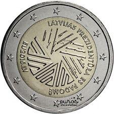 Pièce 2 euros commémorative LETTONIE 2015 - Présidence de l'Union Européenne