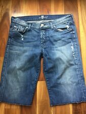 7 for all mankind Distressed Denim Shorts, size 27