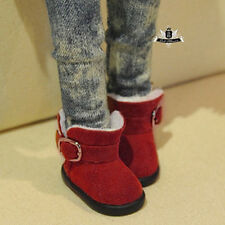 Yosd Shoes 1/6 BJD Shoes lolita red snow boots Dollfie Luts Dollmore AOD DZ DIM