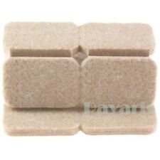 Self Adhesive Rectangle Felt Pads Furniture Floor Scratch Protector Beige 24 Pcs