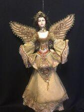 "Katherine's Collection Wayne Kleski Retired 24"" Gold Christmas Angel Doll"