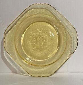 Vintage Amber Depression Glass Federal Co. Madrid Design Salad Plate