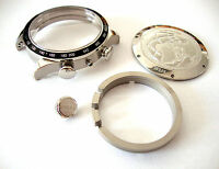 Uhrengehäuse Rund Chrono POLJOT 3133 31681 31382 31679 Edelstahl Basilika Case