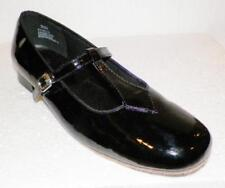 DANCE SHOES Ballroom-Square Womens Mary Jane Black Patent Leather Flats Size 9½n