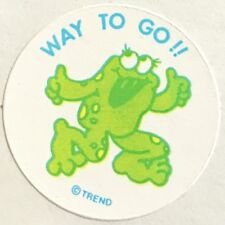 Vintage 80s Matte Trend Scratch & Sniff Sticker - Spearmint - Mint!!