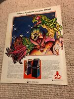 "11- 8 1/4"" Tempest Centipede Atari Pac-Man  arcade video game AD FLYER"