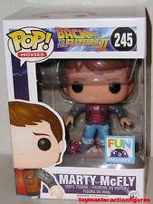 FUNKO POP BACK TO THE FUTURE MARTY McFLY w/ HOVERBOARD #245 FUN EXC In Stock