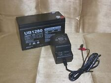 12V 8AH Rechargeable Sealed 12VOLT BATTERY & CHARGER w/ LED Charge Status Lights
